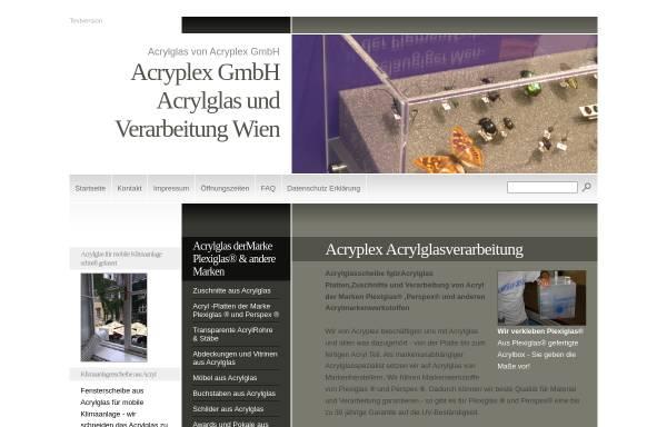 Vorschau von www.acryplex.at, Acryplex Kunststofftechnik GmbH