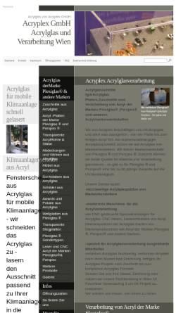 Vorschau der mobilen Webseite www.acryplex.at, Acryplex Kunststofftechnik GmbH