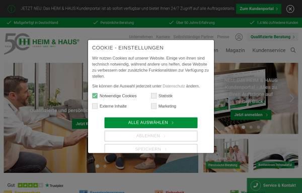 Vorschau von www.heimhaus.de, Heim & Haus Holding GmbH