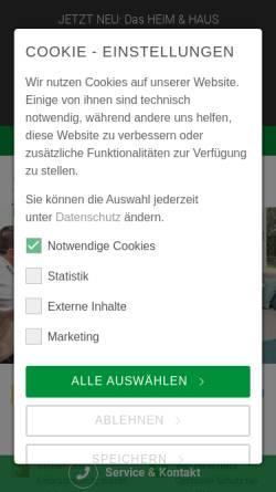 Vorschau der mobilen Webseite www.heimhaus.de, Heim & Haus Holding GmbH