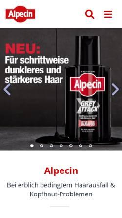 Vorschau der mobilen Webseite www.alpecin.de, Alpecin