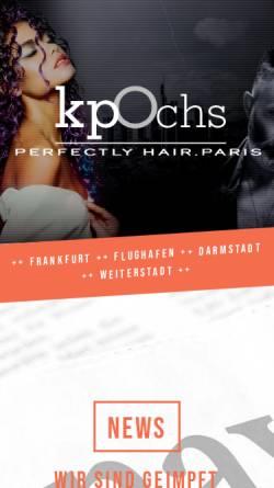Vorschau der mobilen Webseite www.kp-ochs.de, Klaus Peter Ochs Perfectly Hair