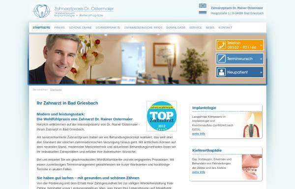 Vorschau von www.zahnarzt-passau.info, Dr. Rainer Ostermaier
