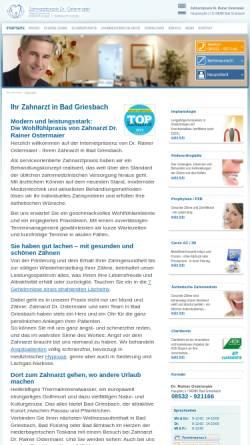 Vorschau der mobilen Webseite www.zahnarzt-passau.info, Dr. Rainer Ostermaier