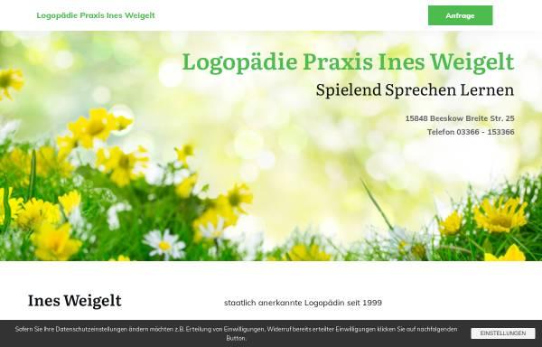 Vorschau von www.logopaedie-beeskow.de, Logopädie und Ergotherapie Ines Weigelt