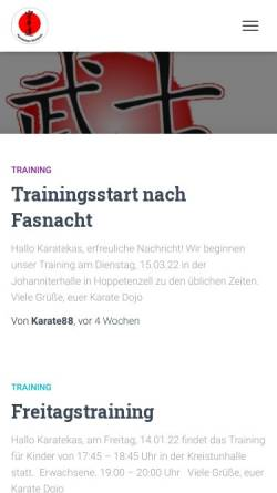 Vorschau der mobilen Webseite karate-dojo-stockach.de, Karate Dojo Stockach e.V.