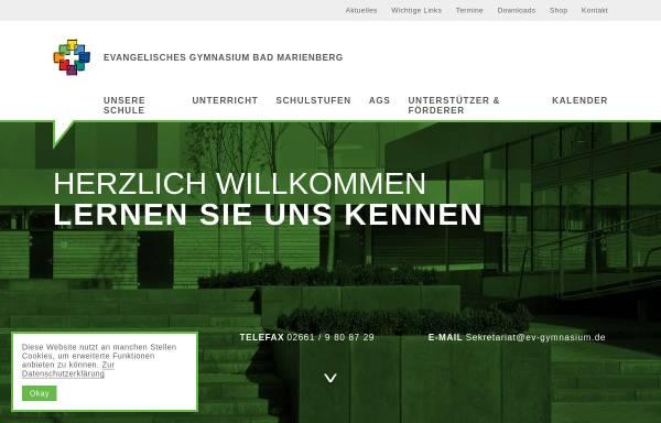 Vorschau von evgbm.net, Evangelisches Gymnasium Bad Marienberg