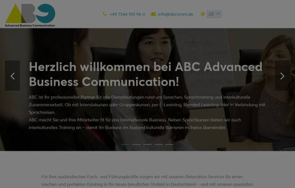 Vorschau von www.abcomm.de, Abc - Sprachschule