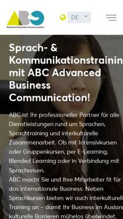 Vorschau der mobilen Webseite www.abcomm.de, Abc - Sprachschule