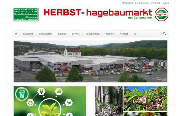 Vorschau von herbst-hagebau.de, Hagebaumarkt Herbst GmbH