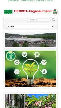 Vorschau der mobilen Webseite herbst-hagebau.de, Hagebaumarkt Herbst GmbH