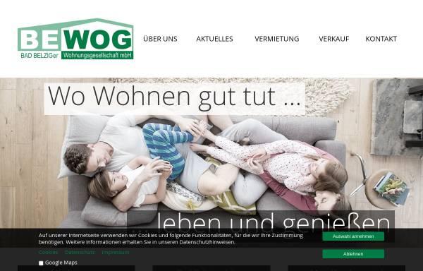 Vorschau von www.bewog-belzig.de, Belziger Wohnungsgesellschaft mbH