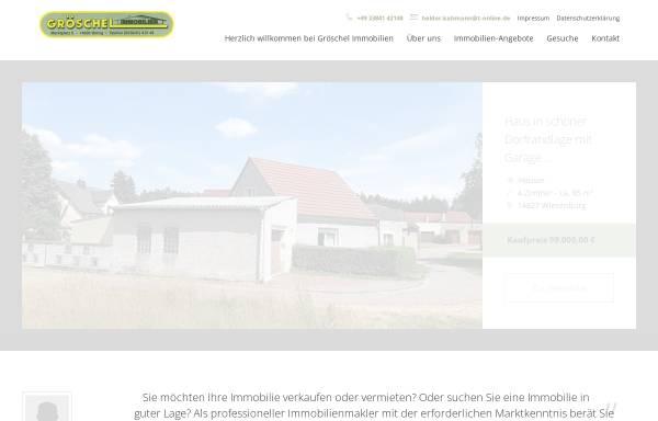 Vorschau von www.groeschelimmobilien.de, Gröschel Immobilien