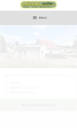 Vorschau der mobilen Webseite www.groeschelimmobilien.de, Gröschel Immobilien