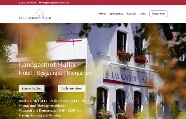Vorschau von www.gasthaus-haller.de, Gasthaus Haller