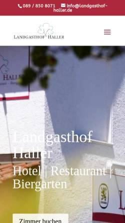 Vorschau der mobilen Webseite www.gasthaus-haller.de, Gasthaus Haller