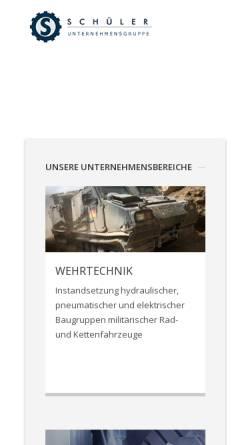 Vorschau der mobilen Webseite www.schueler-gruppe.de, Schüler Unternehmensgruppe