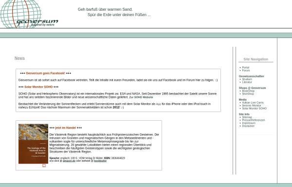 Vorschau von www.geoversum.de, Geoversum