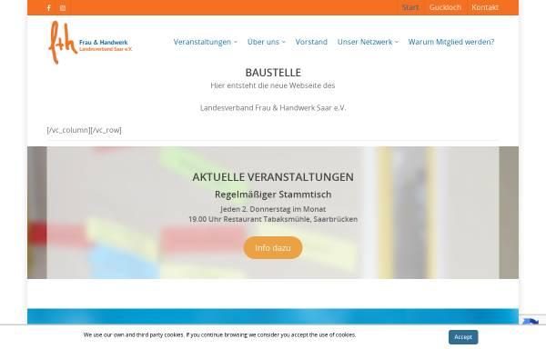 Vorschau von www.frau-und-handwerk.de, Landesverband Frau und Handwerk e.V.