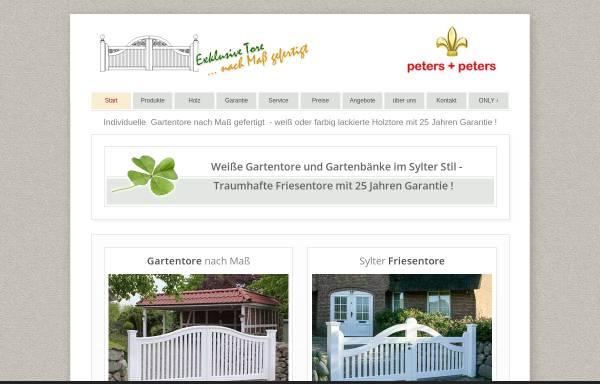 Vorschau von www.friesenzaun.de, Peters + Peters GmbH