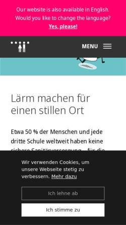 Vorschau der mobilen Webseite www.germantoilet.org, German Toilet Organization e.V.