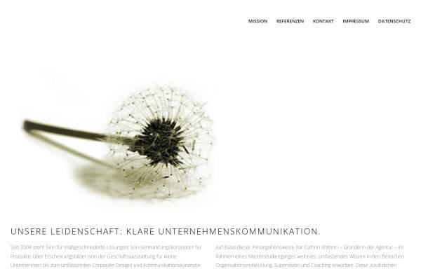 Vorschau von www.sinn-kommunikation.de, Sinn - Agentur für Kommunikation