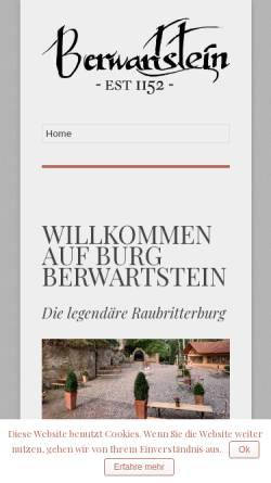 Vorschau der mobilen Webseite burgberwartstein.de, Burg Berwartstein - Wikipedia