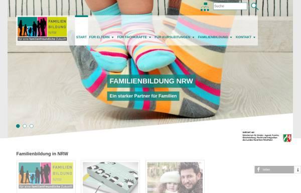 Vorschau von www.familienbildung-in-nrw.de, Familienbildung in NRW