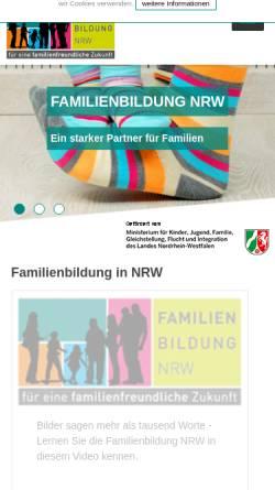 Vorschau der mobilen Webseite www.familienbildung-in-nrw.de, Familienbildung in NRW