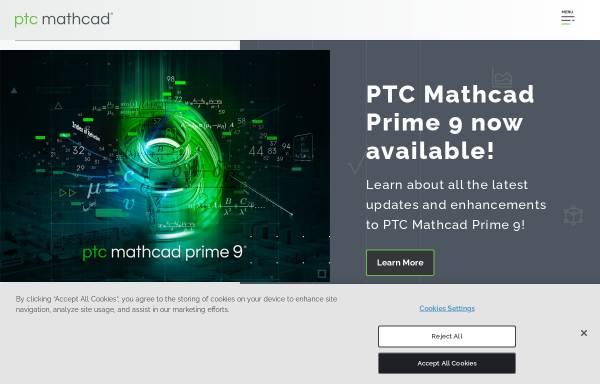Vorschau von www.ptc.com, Mathcad Software