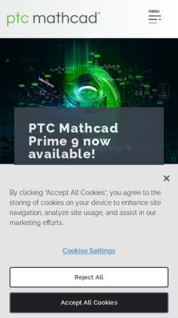Vorschau der mobilen Webseite www.ptc.com, Mathcad Software