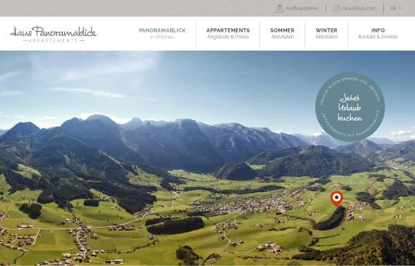 Vorschau von www.haus-panoramablick.at, Ferienwohnungen Haus Panoramablick