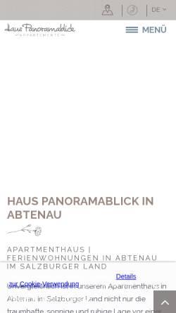 Vorschau der mobilen Webseite www.haus-panoramablick.at, Ferienwohnungen Haus Panoramablick