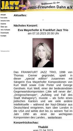 Vorschau der mobilen Webseite www.jazz-freunde-dahn.de, Jazz-Freunde Dahn e.V.