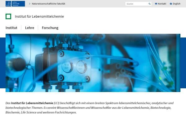 Vorschau von www.lci.uni-hannover.de, Institut für Lebensmittelchemie