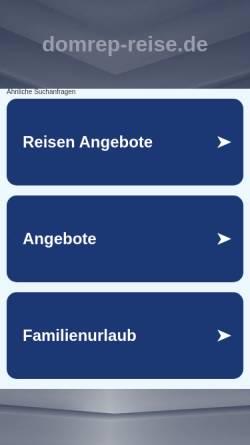 Vorschau der mobilen Webseite www.domrep-reise.de, Domrep-Reise.de