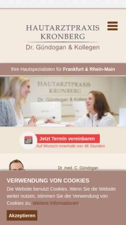 Vorschau der mobilen Webseite www.hautarztpraxis-kronberg.de, Gündogan, Dr. med. Cüneyt