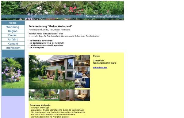 Vorschau von ferienwohnung-wollscheid.de, Ferienwohnung Wollscheid