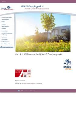 Vorschau der mobilen Webseite www.knauscamp.de, Knaus Campingparks- Helmut Knaus KG