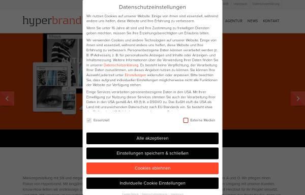 Vorschau von hyperbrand.de, Hyperbrand - Webdesign Studio