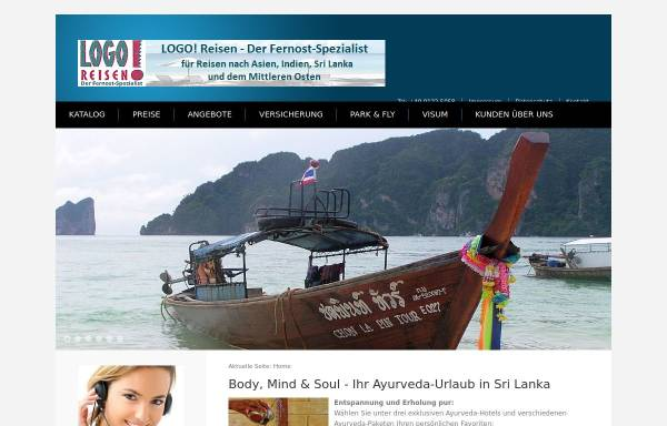 Vorschau von www.logo-reisen.de, Logo Reisen