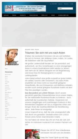 Vorschau der mobilen Webseite www.logo-reisen.de, Logo Reisen