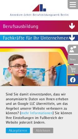 Vorschau der mobilen Webseite www.albbw.de, Annedore-Leber-Berufsbildungswerk Berlin