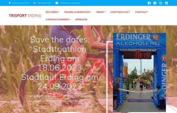 Vorschau von www.trisport-erding.de, Trisport Erding e.V.