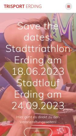 Vorschau der mobilen Webseite www.trisport-erding.de, Trisport Erding e.V.