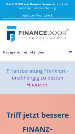 Vorschau der mobilen Webseite www.financedoor.de, Financedoor GmbH