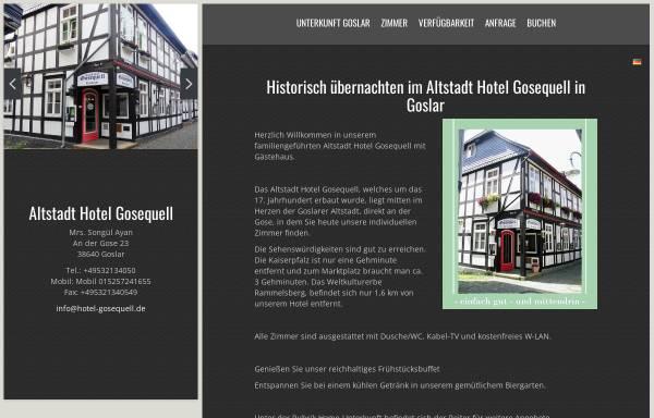 Vorschau von www.hotel-gosequell.de, Altstadt Hotel Gosequell