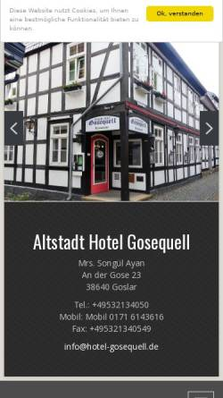 Vorschau der mobilen Webseite www.hotel-gosequell.de, Altstadt Hotel Gosequell