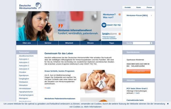 Vorschau von www.hirntumorhilfe.de, Deutsche Hirntumorhilfe e.V.