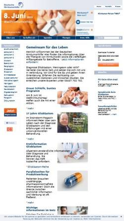 Vorschau der mobilen Webseite www.hirntumorhilfe.de, Deutsche Hirntumorhilfe e.V.